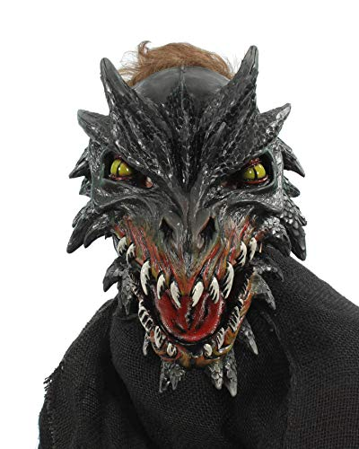 Zagone Studios Noir Dragone Dragon Face Latex Mask with Harnessed Moving Mouth