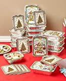24 Holiday Goodie Food Containers, Christmas