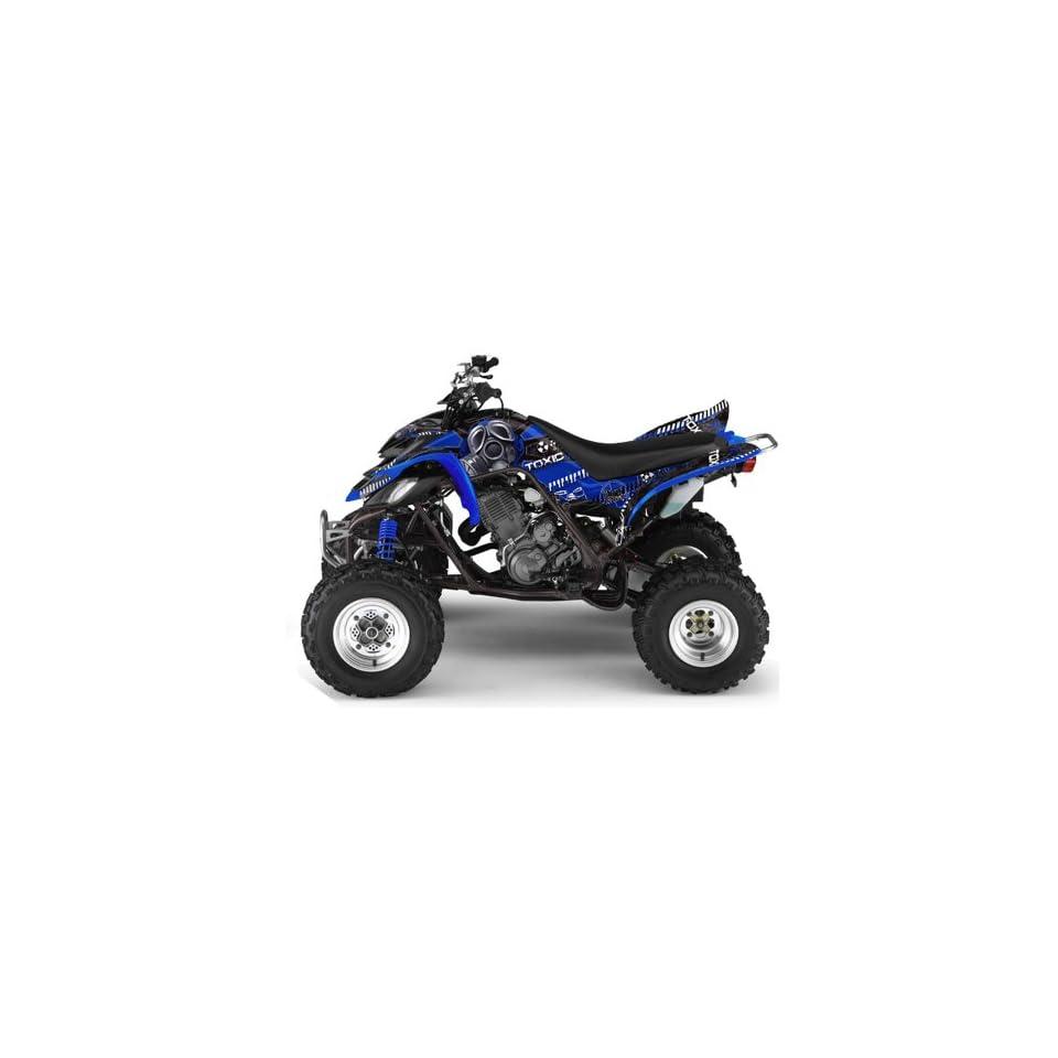 AMR Racing Yamaha Raptor 660 ATV Quad Graphic Kit   Toxicity Black, Blue