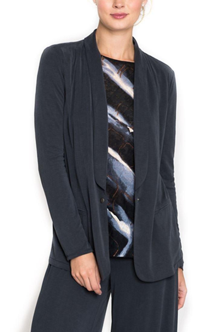 Nic+Zoe Women's Seasonless Blazer Jacket - Washed Midnight - L