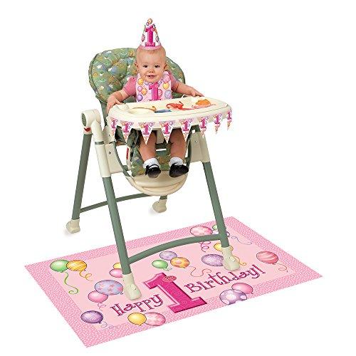 Pink 1st Birthday High Chair Decorating Kit, 4pc ()
