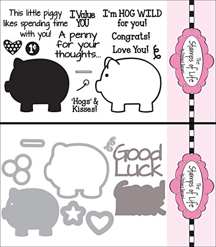 The Stamps of Life Clear Stamps & Dies, piggybank2stamp & Piggy Bank Dies