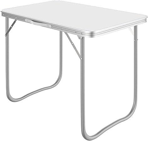 RANRANJJ Mesa Plegable para Acampar Mesas de Comedor de jardín transportable Aluminio Plegable Portátil Ligero para una Fiesta en el Interior al Aire Libre Acampar en casa Comedor Uso para Viajar/Pi: Amazon.es: