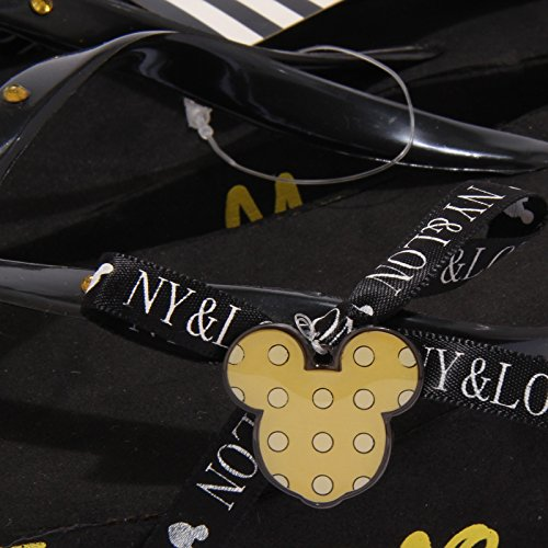 NY Shoe Giallo amp;LON Nero Sandal Mouse Infradito Mickey Kid Monnalisa 3714T Bimba qtHw1f1
