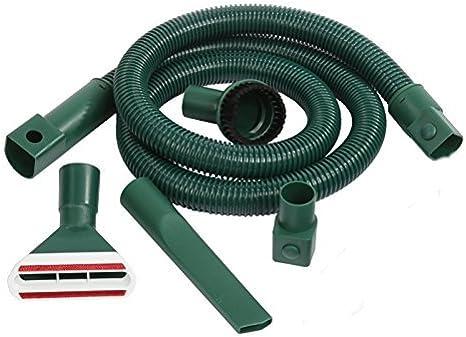 Vorwerk Kobold 121 – Staubsauger mit flexiblem Schlauch und Düsensatz für harte Böden und Laminat, 10 Staubsaugerbeutel, Duft.