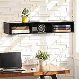 FITUEYES Mueble de Estante para TV montado en la Pared Consola de Entretenimiento Multimedia,con 3 almacenamientos Abiertos,B