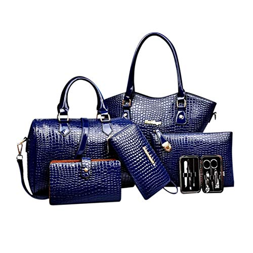 6PCS / SET donne eleganti composito borsa femminile alla moda partito di nozze singola borsa a tracolla set