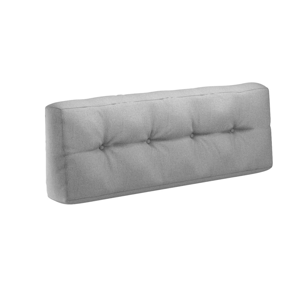 palé almohada cojín lumbar 120x 40x 20cm palé sofá palé Cojín Sofá acolchado Indoor Outdoor gris Serina