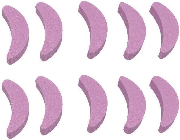 Sierra de Cadena Media Luna en forma de cadena de afilado de herramientas de piedra de aceite de la motosierra de cadena Molienda de lijado de piedra Accesorios 10 piezas
