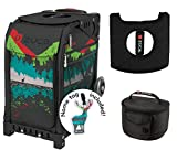 Zuca Sport Bag - Into the Woods with Gift Lunchbox and Seat Cover (Black Non-Flashing Wheels Frame)