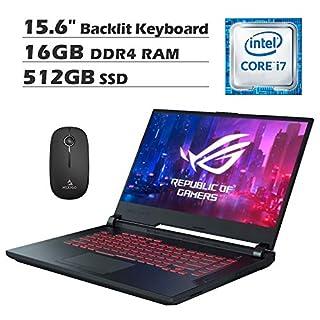 2020 Asus ROG G531GT 15.6 Inch FHD 1080P Gaming Laptop, Intel 6-Core i7-9750H up to 4.5 GHz, GeForce GTX 1650 4GB, 16GB RAM, 512GB SSD, Backlit KB, Windows 10 + NexiGo Wireless Mouse Bundle