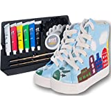 mY DESIGN Art Shoes Painting Kit, Craft Supplies for Kids (8.5-9.5M US Toddler)