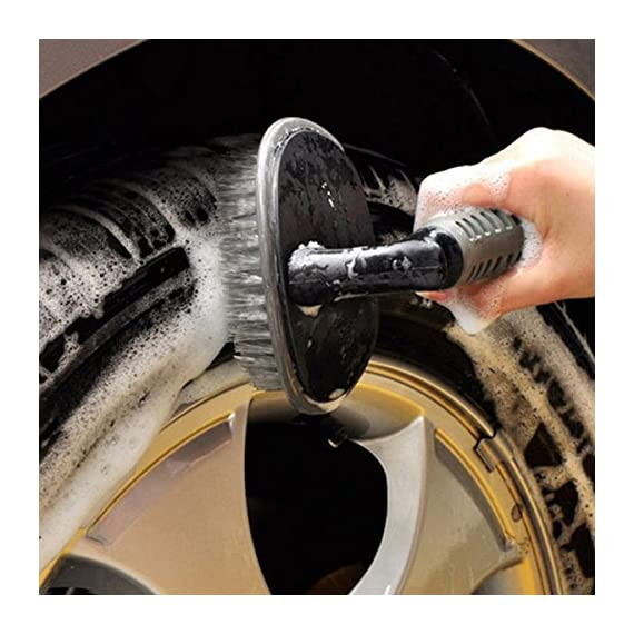 Auto Hub Wheel Tire Rim Scrub Brush Hub Clean Wash Useful Brush Car Truck Motorcycle Bike Washing Cleaning Tool 1