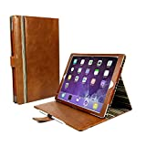 Alston Craig Vintage Genuine Leather Slim-Stand Case Cover for Apple iPad Pro 10.5 - Brown