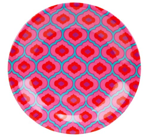 C.R. Gibson Iota Dena Collections Melamine Salad Plate, Marrakech, 9-Inch, Pink