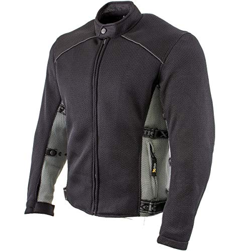 Xelement CF505 Men's 'Phantom Rider' Black Advanced Mesh Sports Jacket with X-Armor Protection