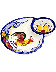 Hand Painted Traditional Portuguese Ceramic Olive Dish (Rooster)