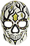 Day of the Dead Masquerade Mask - Dia De Los Muertos White w/ Black Branches Halloween Mask