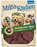 Milo's Kitchen Dog Treats, Beef Sausage Slices with Rice, 18-Ounce Package, My Pet Supplies