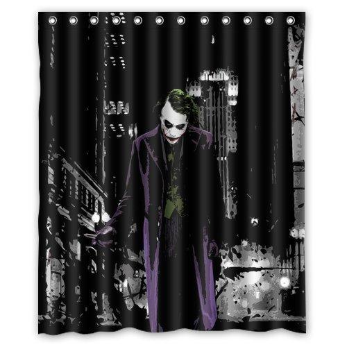 FABATU Custom Batman Joker Shower Curtain Waterproof Anti Polyester Fabric Bathroom Shower -