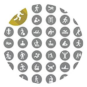 alfombrilla de ratón Iconos del deporte. eps10 de vectores - ronda - 20cm