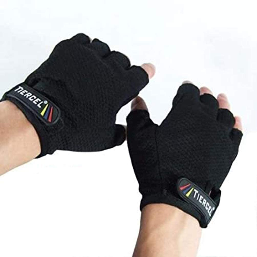 EVO FITNESS WEIGHTLIFTING GYM BODYBUILDING GLOVES LARGE ~ BLACK ~ NEW IN PACKET