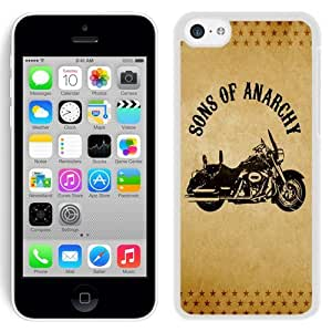 NEW Unique Custom Designed iPhone 5C Phone Case With Sons of Anarchy Motorcycle_White Phone Case wangjiang maoyi by lolosakes