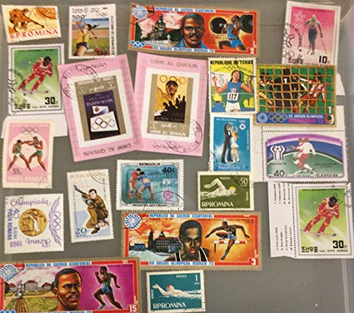 20 Sports Stamps, Collectible Vintage topical stamp collection