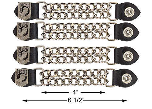 Dream Apparel POW/MIA Vest Extender Chrome Double Diamond Cut Chrome Chain (4)