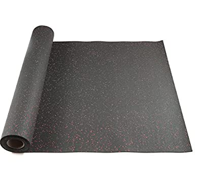 Hefty Mat Rubber Flooring and Rolling Mat, Anti-Vibration Mat, Noise Reduction, Underlayment Rolls, for Home Gym, Hotels, Washing Machine and Heavy Equipment, 3.2 feet x 16 feet x 1/10 inch