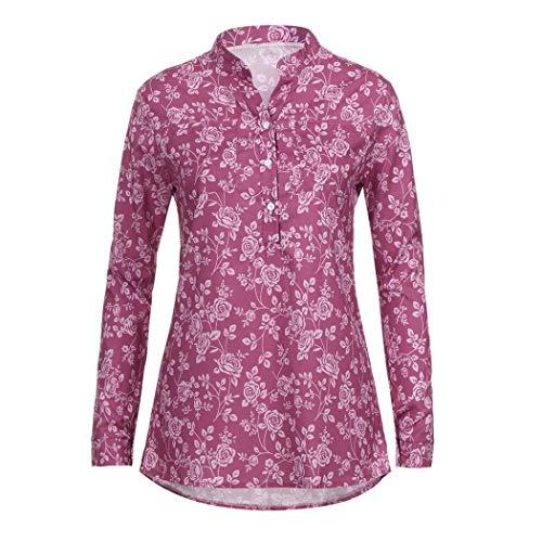 T Shirts Casual Vin Femmes Flora LaChe Blouse Innerternet ImprimS Hiver T Occasionnels Manches Shirts Pull pour Rouge Automne Longues 6WxT1HAPnE