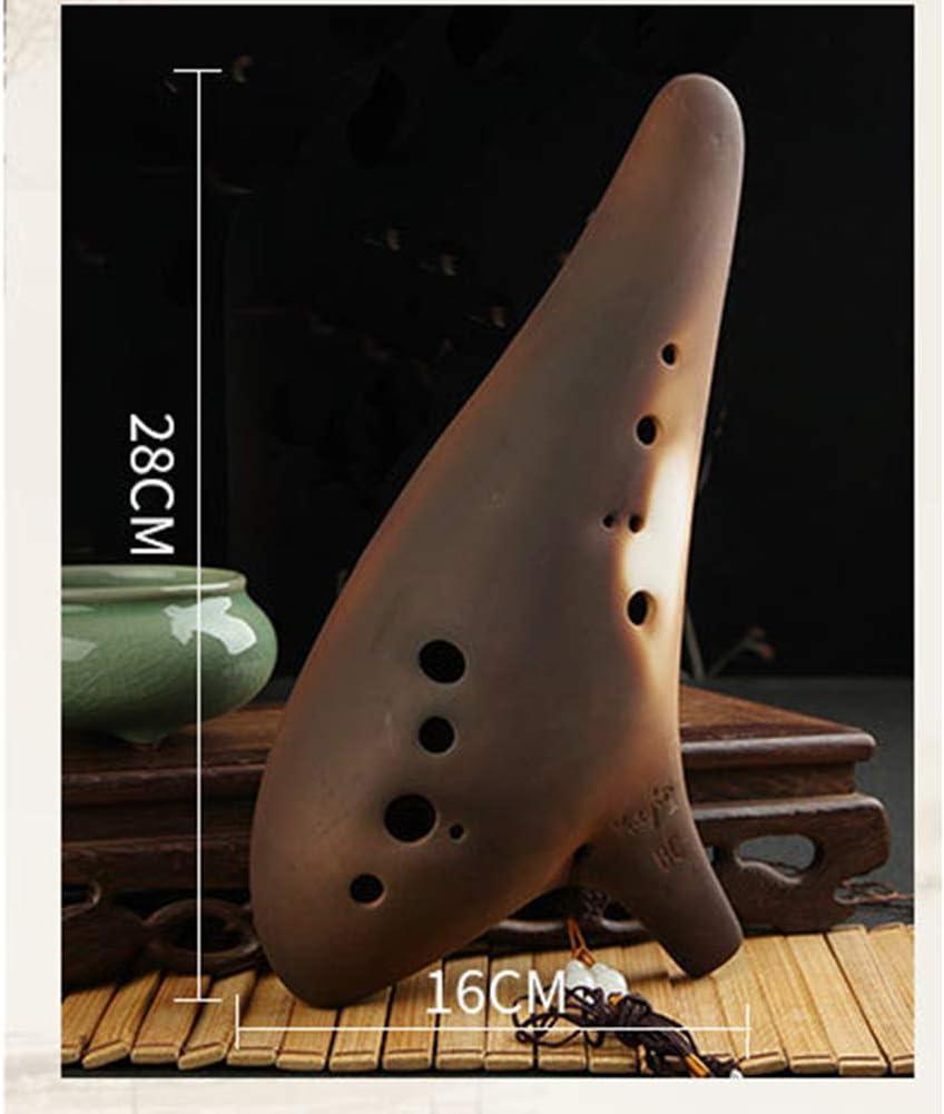 Instrumento de Viento de Madera Ocarina Instrumento de m/úsica Ocarina de tecla Alto C LZHJ Ocarina de cer/ámica de 12 Hoyos