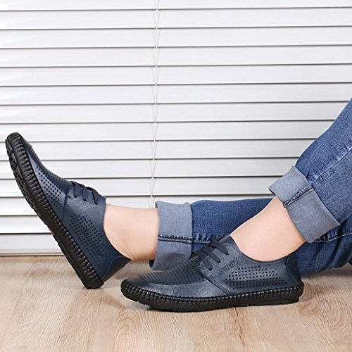 Traspiranti Casual Sandali Donna Blue Pelle Scarpe da Baotou da Uomo in Estiva Scarpe Sandali da Donna Scarpe 7rUqw70