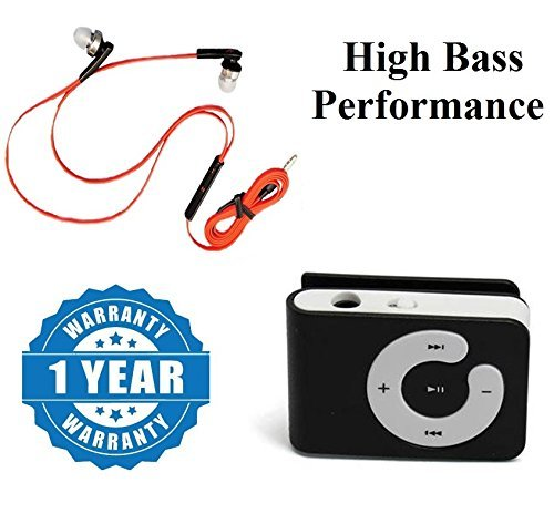 captcha Universal High Bass Performance 3 5mm Earphone Earbuds with Remote  and Mic With Plastic Clips Mp3 Player Mini Portable Micro SD (Multicolor)