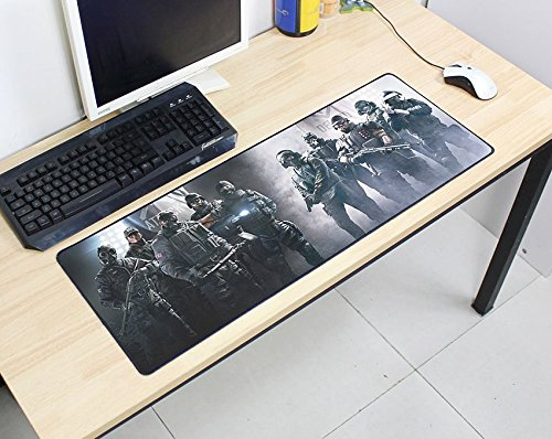 Rainbow Six Siege Mouse Pad 800X300X2Mm Pad Mouse Computer Mouse Pad Best-Selling Game Padmouse Game Player Keyboard Mouse Pad C