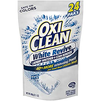 OxiClean White Revive Laundry Whitener + Stain Remover Power Paks, 24 Count