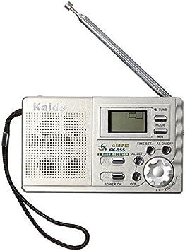 Flying colourz Kaide K555 Am FM Radio portátil Mini casa de Viaje Bolsillo LCD Pantalla Digital Reloj Despertador: Amazon.es: Electrónica