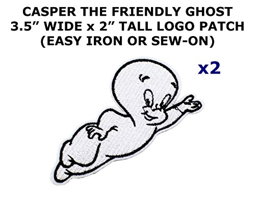 2 PCS Casper the Friendly Ghost Cartoon Theme DIY Iron / Sew-on Decorative Applique Patches