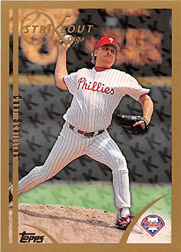 Curt Schilling baseball card (Philadelphia Phillies All Star) 1999 Topps #447 Strikeout Kings ()