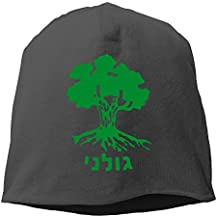 WKPJJDBD0 Men & Women Cap GOLANI BRIGADE IDF Israeli Defence Force Warm Mountain Climbing Warm Knit Beanie Skull Cap Cuff Beanie Hat Knit Hat/Cap Ash