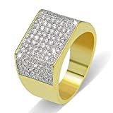 JINAO 18k Gold Plated Hip Hop ICED Out Square Bling Ring (11)