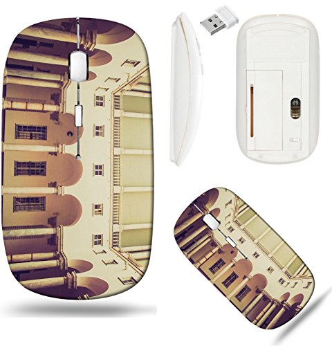 Liili Wireless Mouse White Base Travel 2.4G Wireless Mice with USB Receiver, Click with 1000 DPI for notebook, pc, laptop, computer, mac book Vintage looking Palazzo Ducale Doge Palace in ()