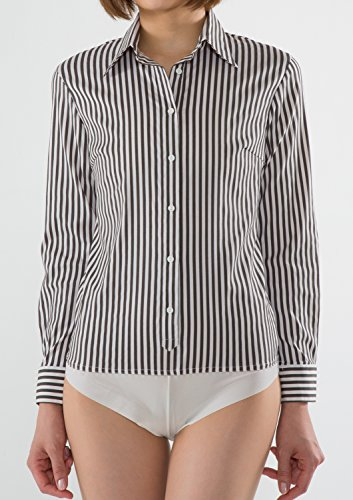 Donna amp; Leonis Camicia Shirts Classico Gray Favorites Stripe wX8wR6qU