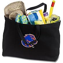 JUMBO Boise State Tote Bag or Large Canvas Boise State University Shopping Bag