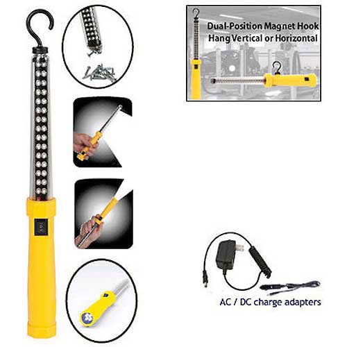 Professional 34 Led Dual Function Rechargeable Work Light, Yellow - Lot of 4