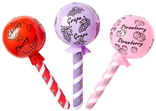 Rhode Island Novelty INLOL24 Lollipop Inflate, 24-Inch, Pack of 12]()