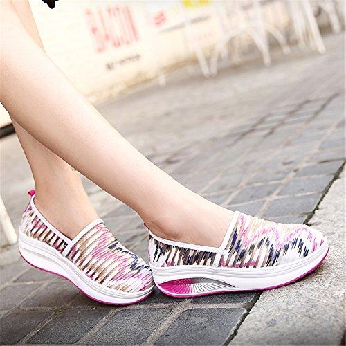 traspiranti pigre D Scarpe casual Scarpe aumento fitness Scarpe da SHINIK donna da Altezza estive Scarpe maglia scuotimento da on Slip nqXZHax