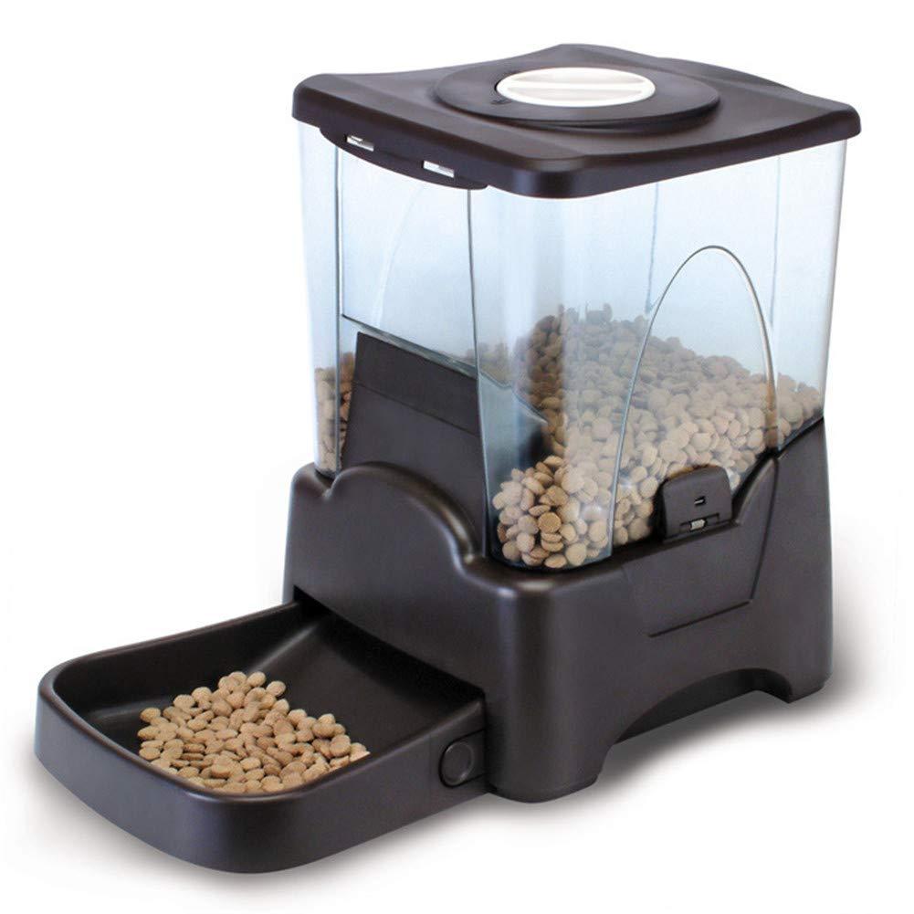 DJVD Alimentatore Automatico Per Animali, Ciotola Per Alimenti Per Animali Programmabile Per Cani E Display Digitale Per L'acqua Automatico (Nero)