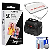Canon ZINK Photo Paper Pack (50 Sheets) for IVY Mini Printers with Case + Power Bank Charger + Kit