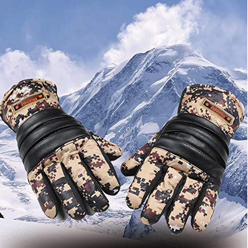 (Longay Winter Camouflage Outdoor Sports Warm Riding Cycling Thickening Gloves (Yellow))